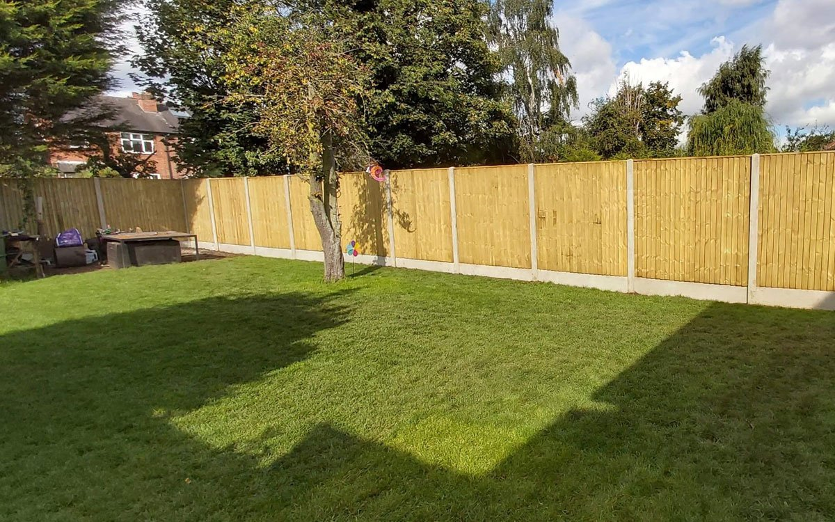Fencing with concrete posts and gravel boards